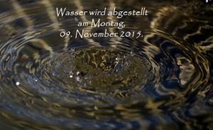 Wasser ab 09.11